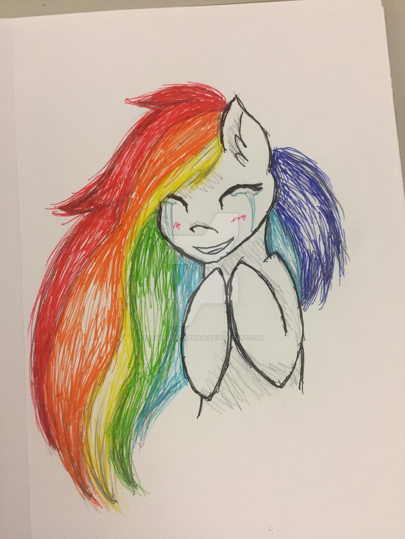 [W.I.P.] [Marker Practice] Rainbow Pone by MyDoggyCatMadi