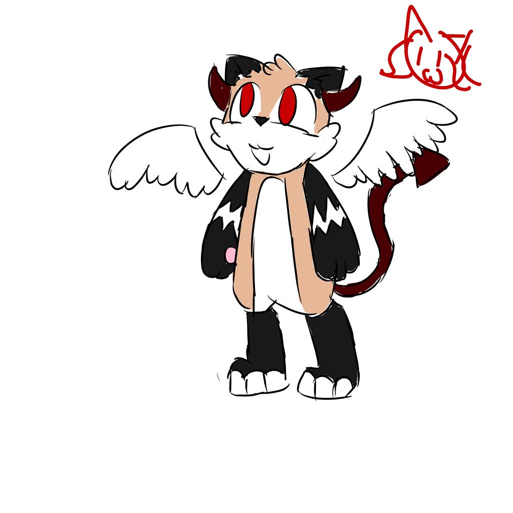 Demon Angel Cat Dog Adopt by MyDoggyCatMadi