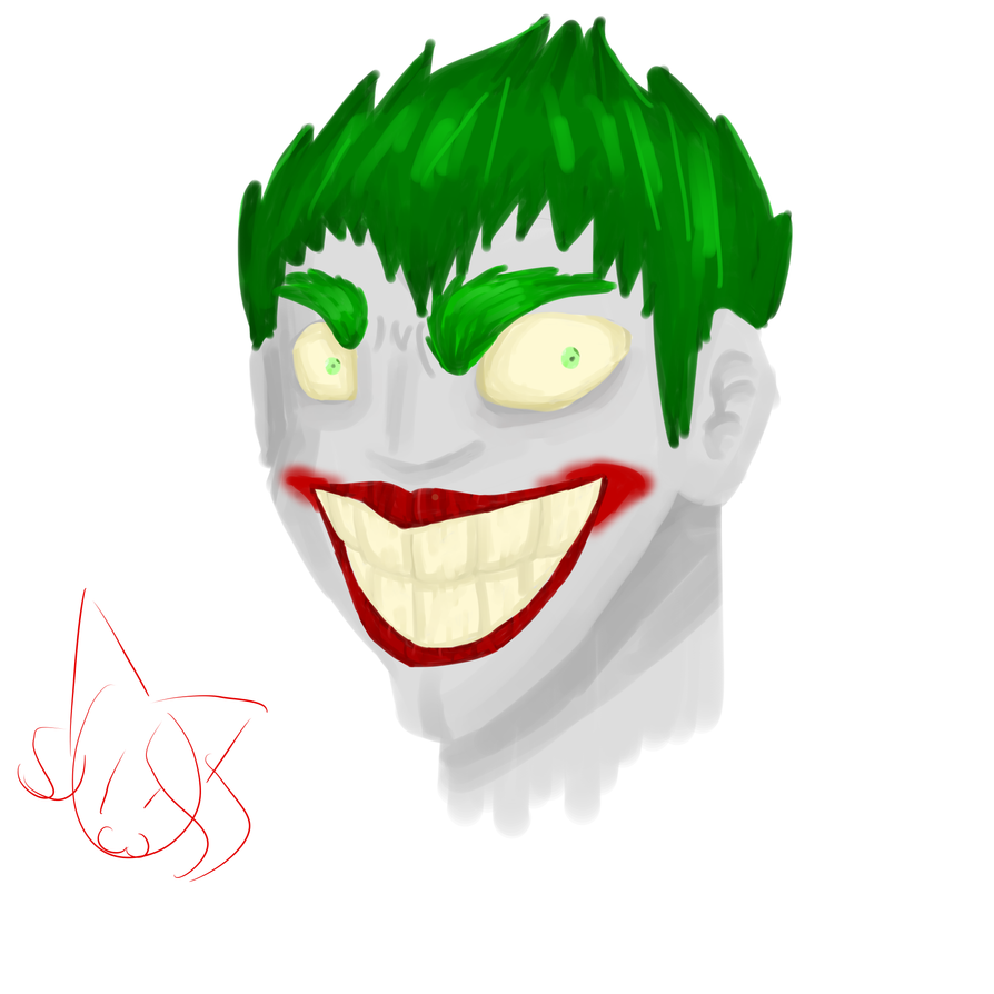Joker (Water Color) by MyDoggyCatMadi