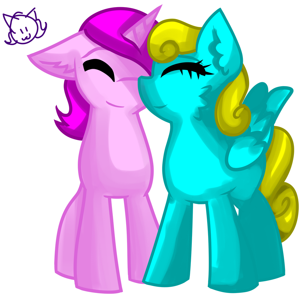 Sugerpop and DiamondShimmer [Request] by MyDoggyCatMadi