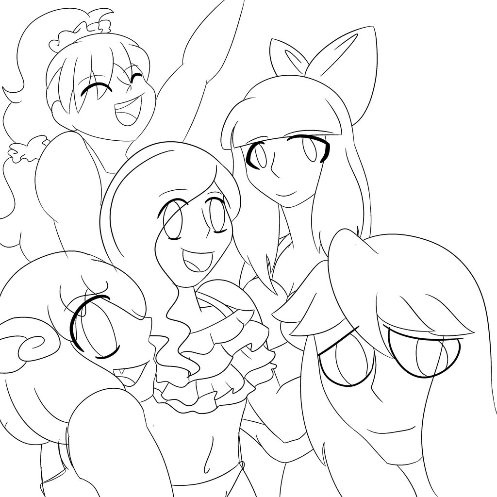 A bunch of beautiful ladies by MyDoggyCatMadi