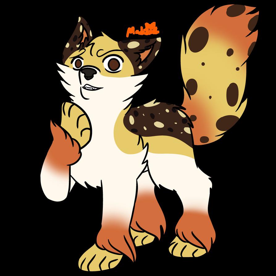 Oreo Waffle Wolf [Requested Custom Adopt] by MyDoggyCatMadi
