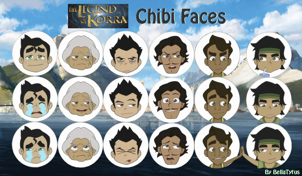 The Southern Air Temple - Page 3 Korra___chibi_faces_by_bellatytus-d878zow
