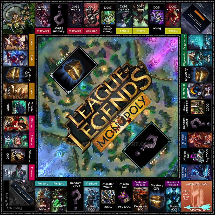 league of legends monopoly