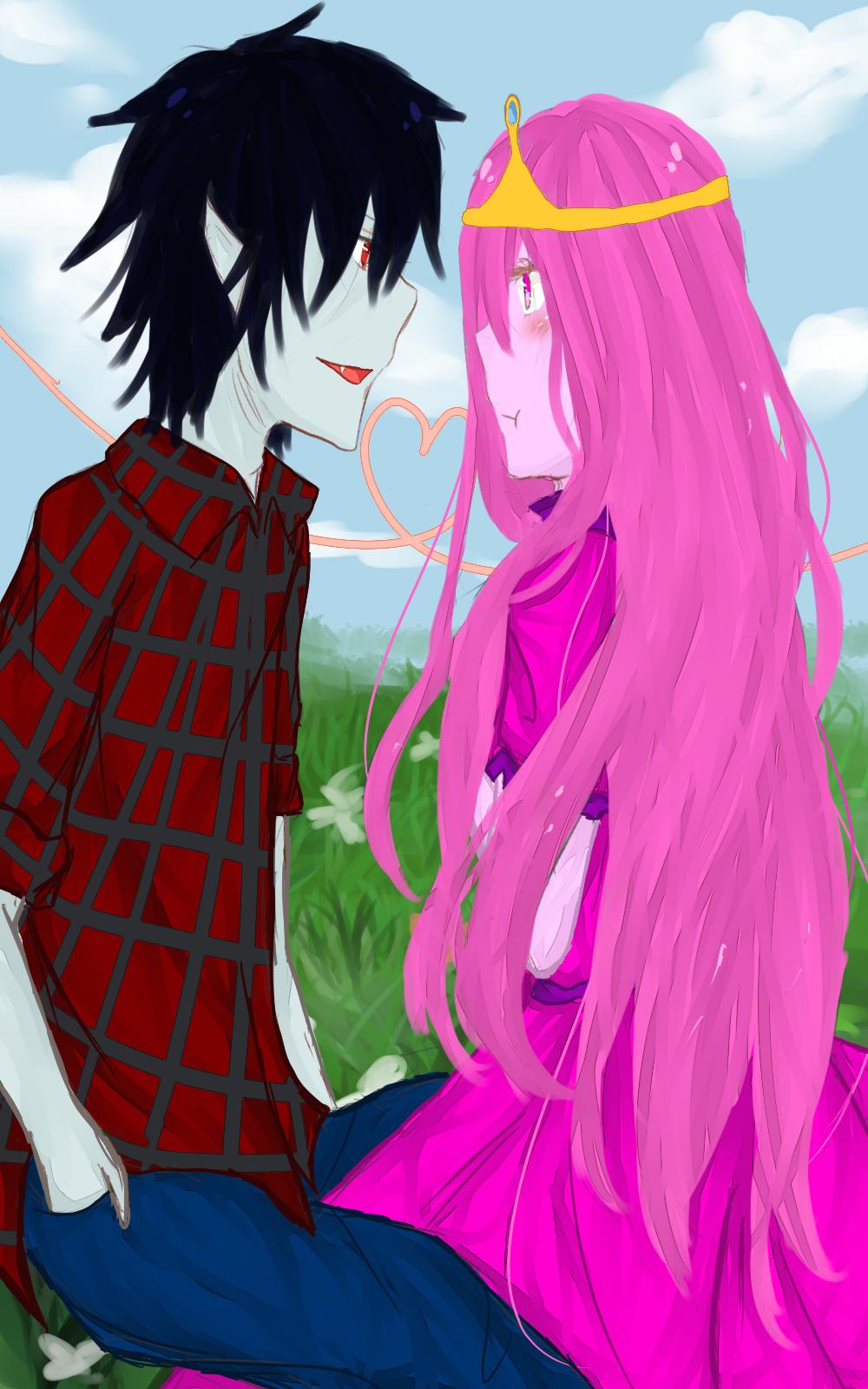 Princess Bubblegum and Marshall Lee by Claradeso on DeviantArt