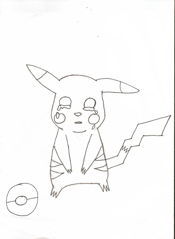 Pikachu crying drawing - photo#7