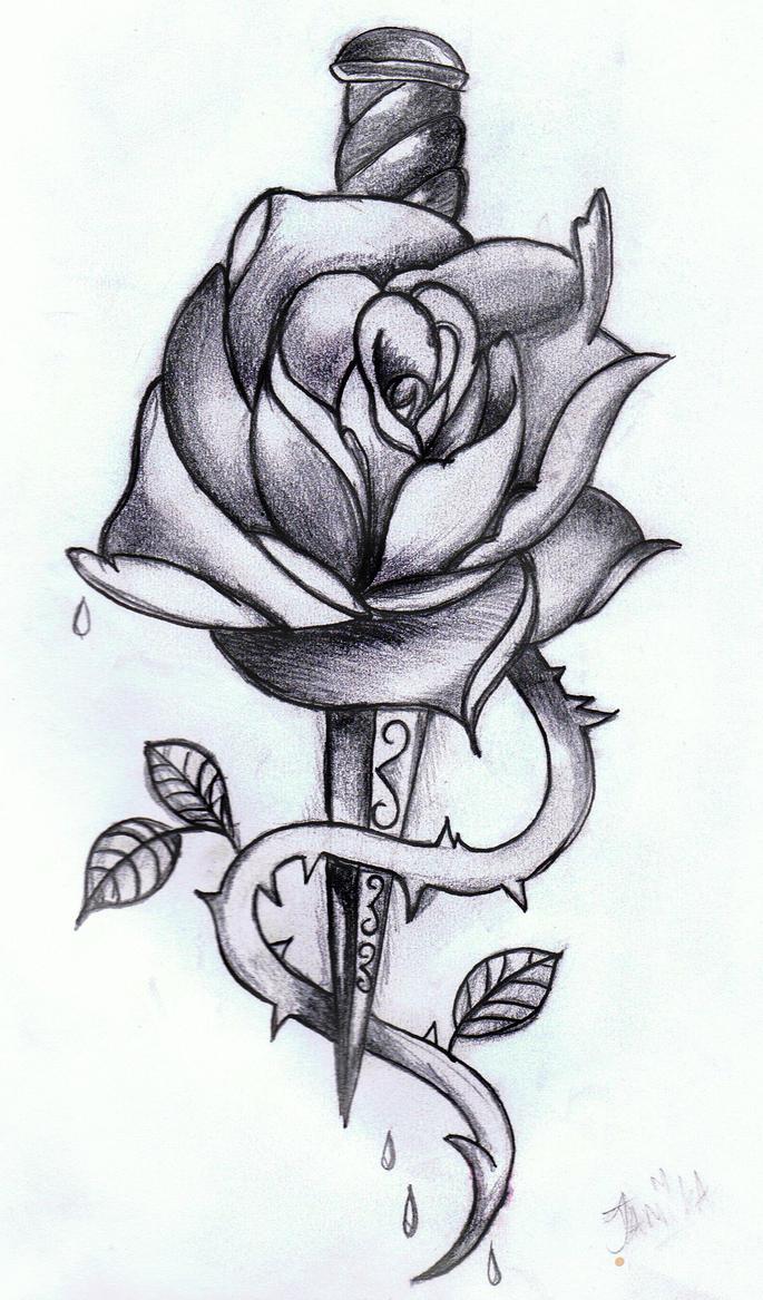 Rose Dagger By Xmidna On Deviantart