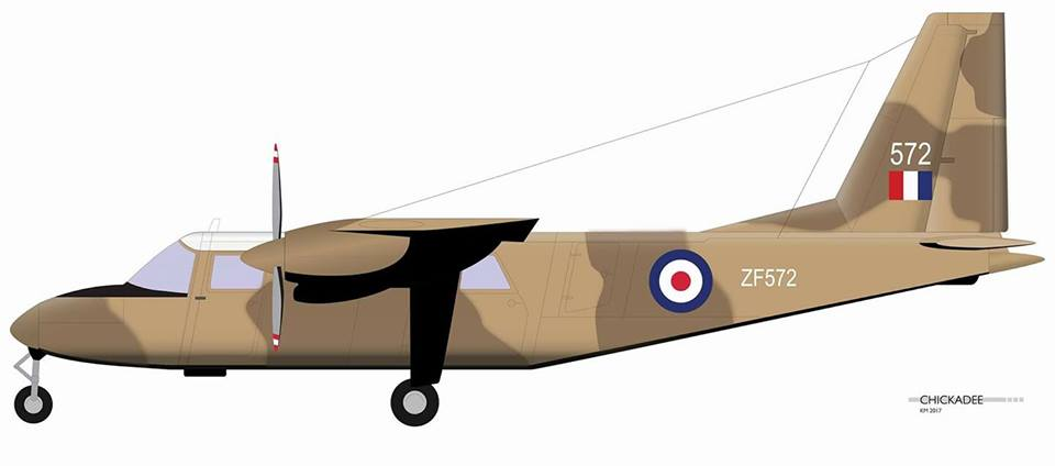 Britten Norman Islander Aircraft Profile NearEast by ChickadeeMcA on