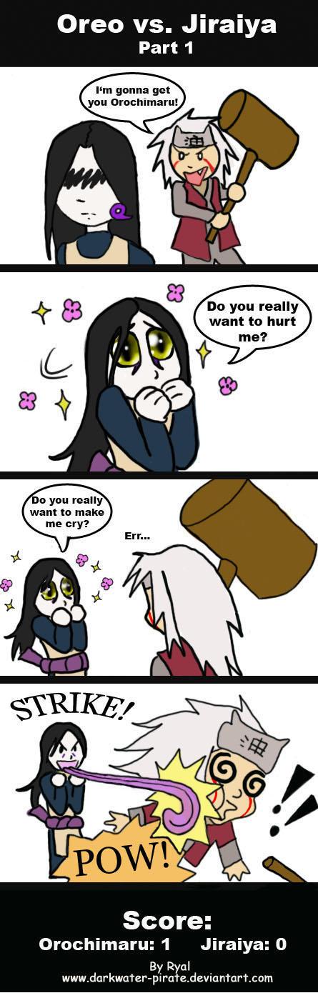 Orochimaru vs Jiraiya pt 1 by darkwater-pirate
