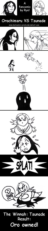 Naruto comic: Oro VS Tsunade by darkwater-pirate