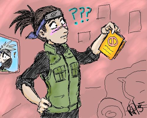 Iruka has a STALKER by darkwater-pirate
