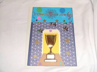Hand-crafted Congratulatory card by Black-Silverstar