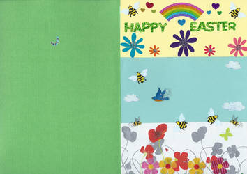 Easter meadow card by Black-Silverstar