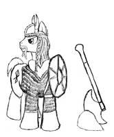 Pony Viking Sketch