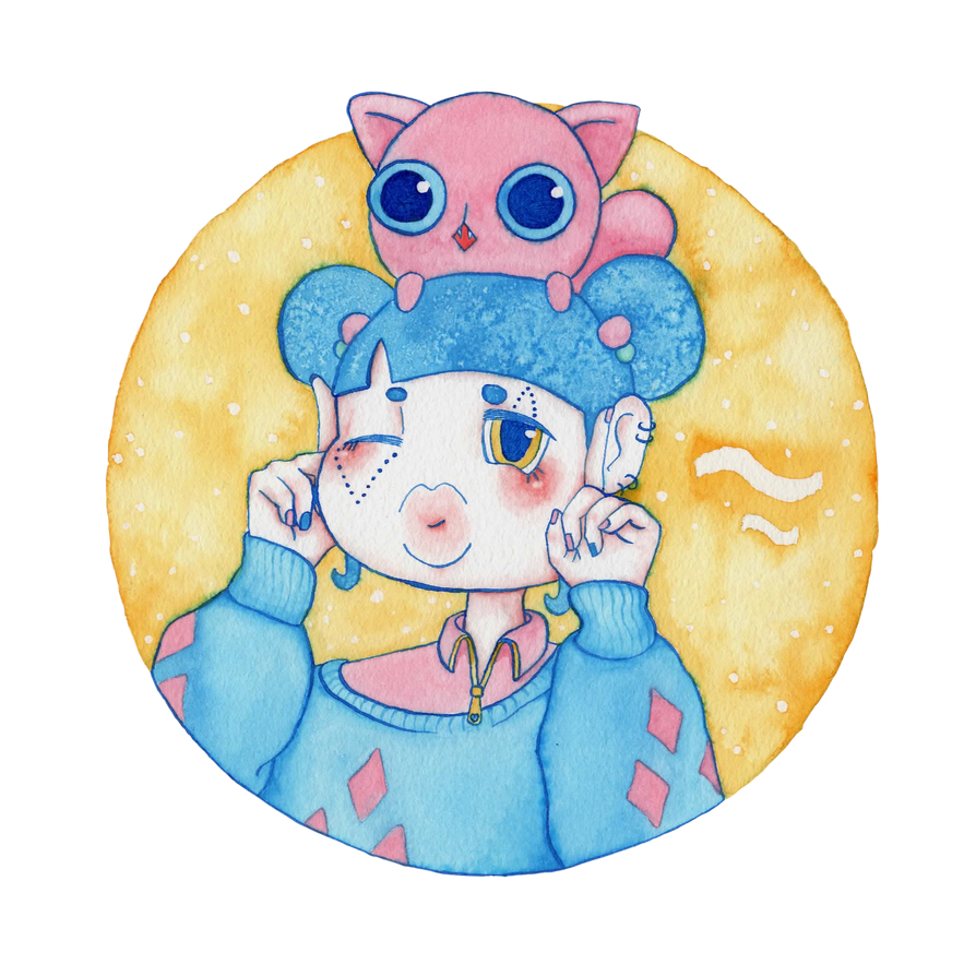 Umie and Mochi VI by Alba-R-Luque