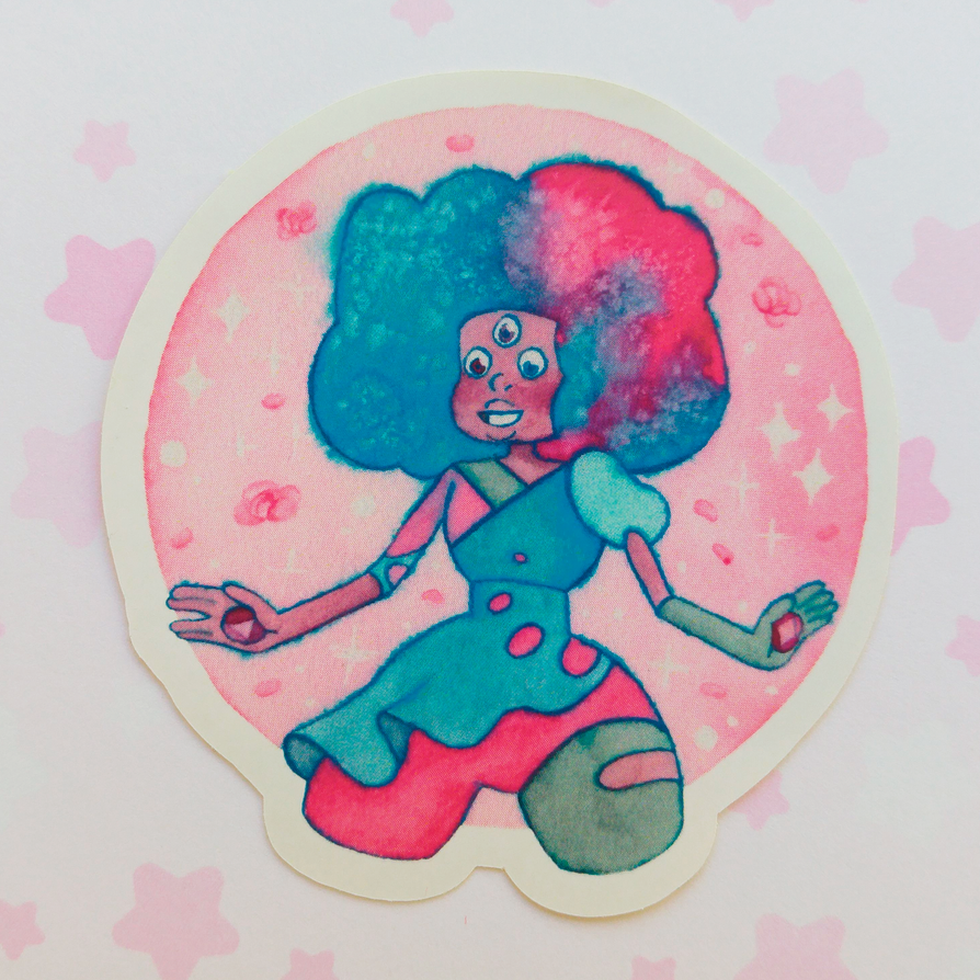 I think cotton candy garnet is my favorite fusion and gem, what's yours? My shop: komorebistars.etsy.com/ www.instagram.com/komorebistar… If you like my art, please come to my shop and ...