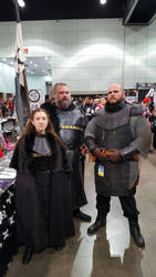 The Mountain meets Lyanna Mormont  by Woad-Warrior
