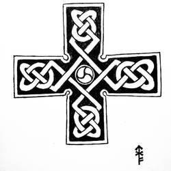 Knotwork cross  by Woad-Warrior