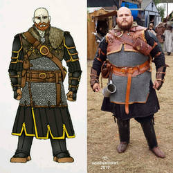 Witcher Armor design comparison.