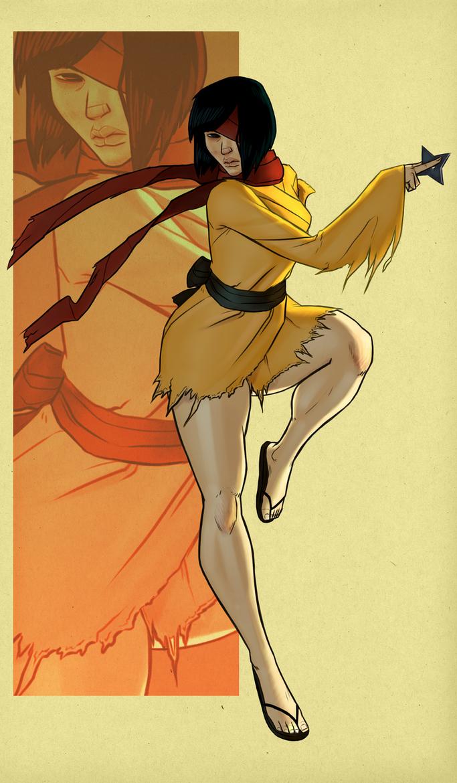 Kunoichi/Paper Ninja by FreeMech