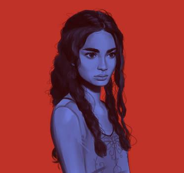 Blue Portrait by FreeMech