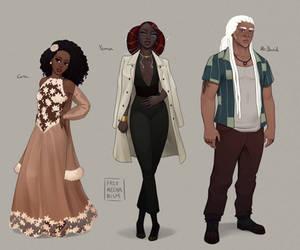 Cora, Yenna, and Mr David by FreeMech