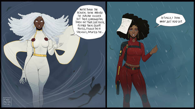 Storm and Misty Knight