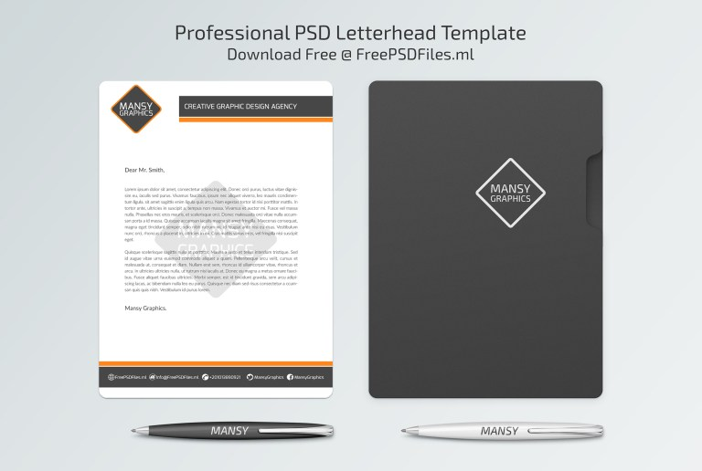 Professional Psd Letterhead Template By Graphicdesign On Deviantart
