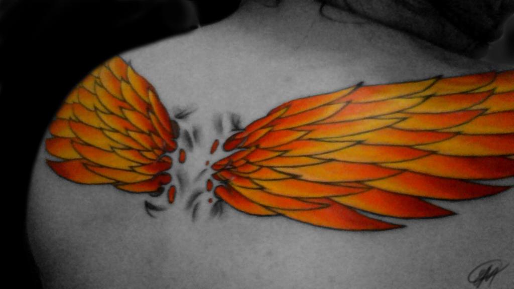 my phoenix wings  by sunshinebeam on deviantart