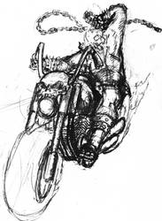 Ghost Rider Sketch by semperfried76