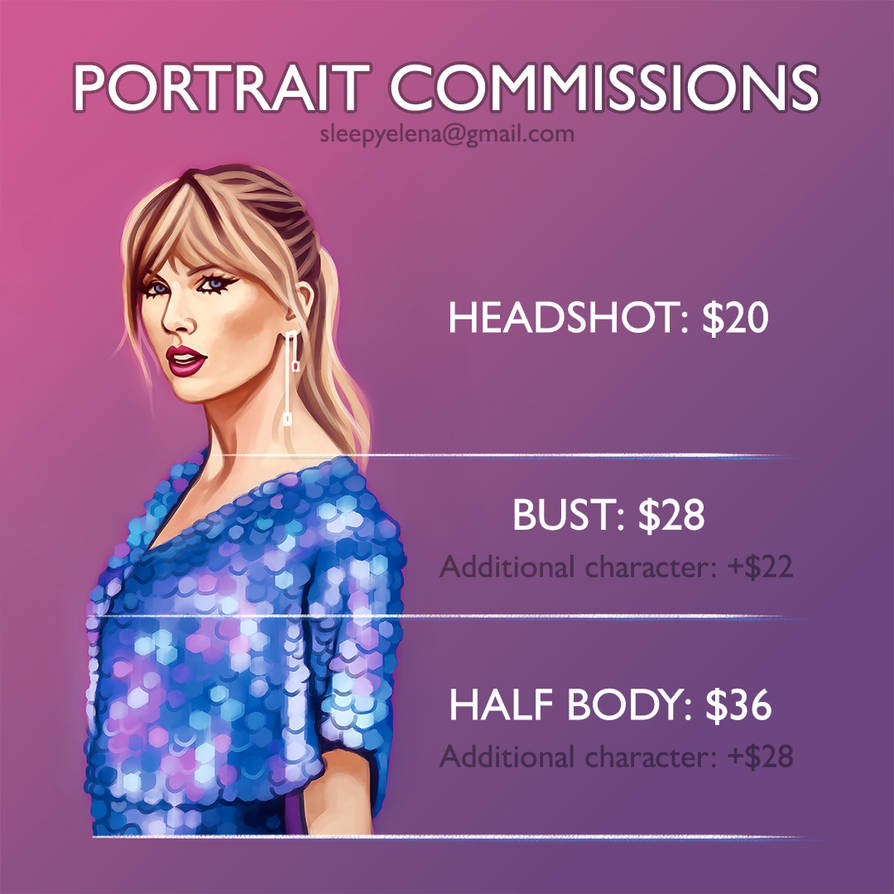 PORTRAIT COMMISSIONS OPEN by feelthesky
