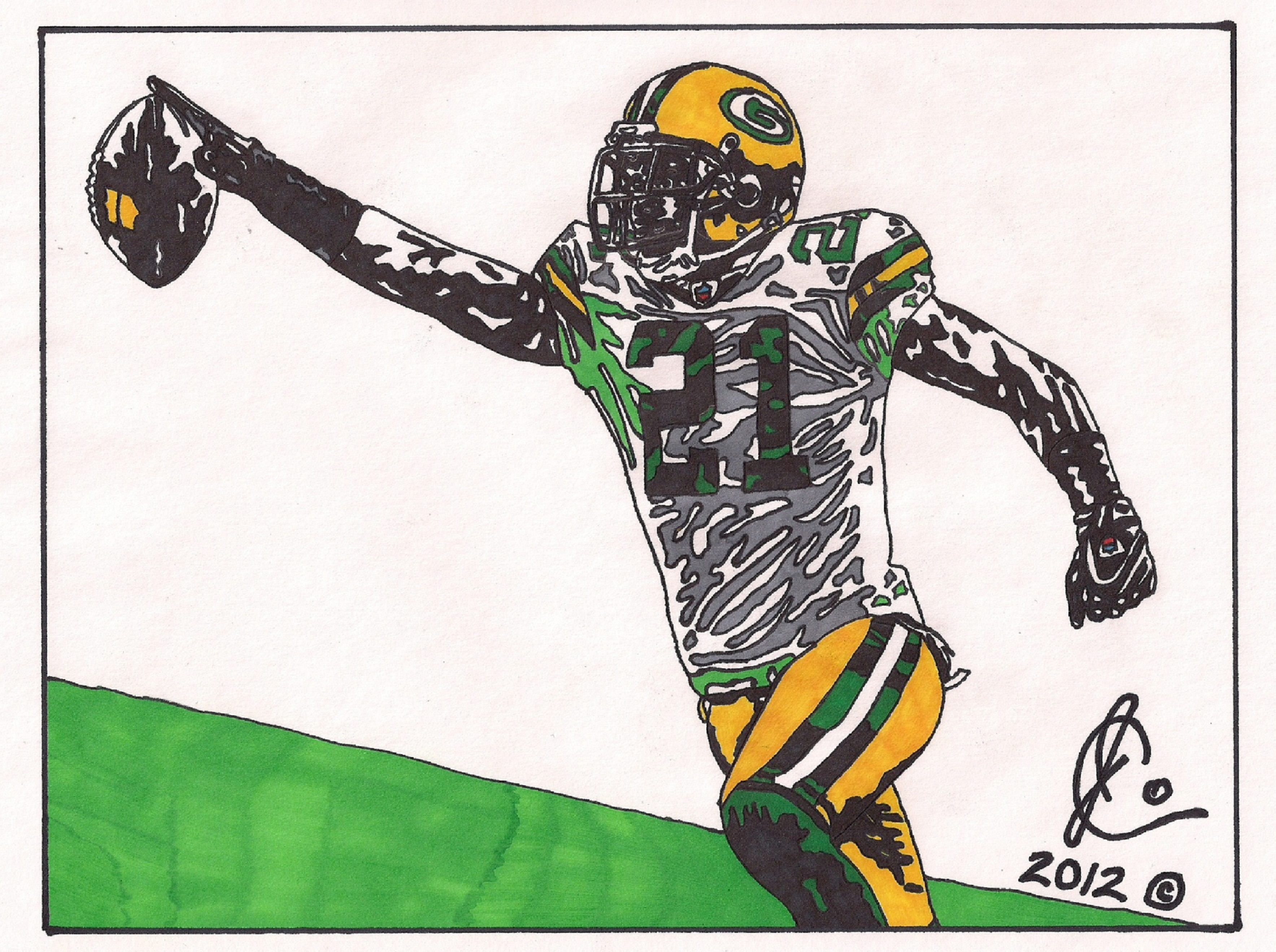 Charles woodson ink illustration packers edition by jcolley79 on deviantart - Charles woodson packers wallpaper ...