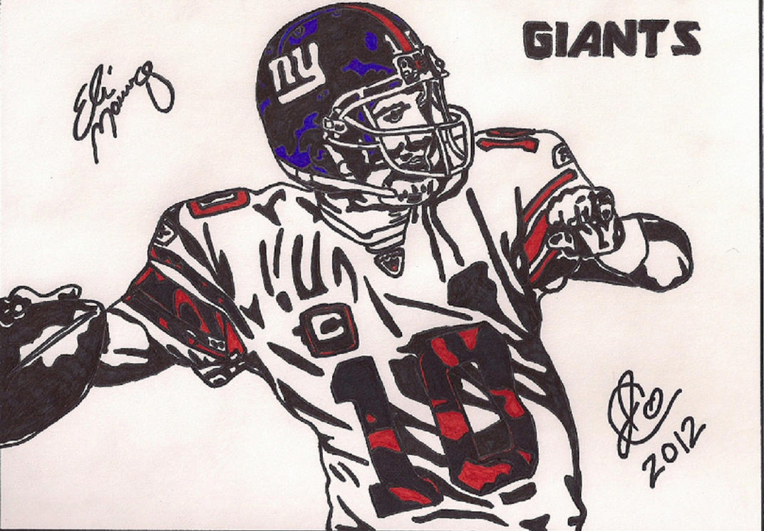 Giants Football Coloring Pages
