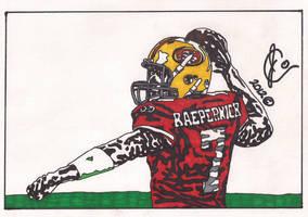 Colin Kaepernick Ink Illustration by JColley79