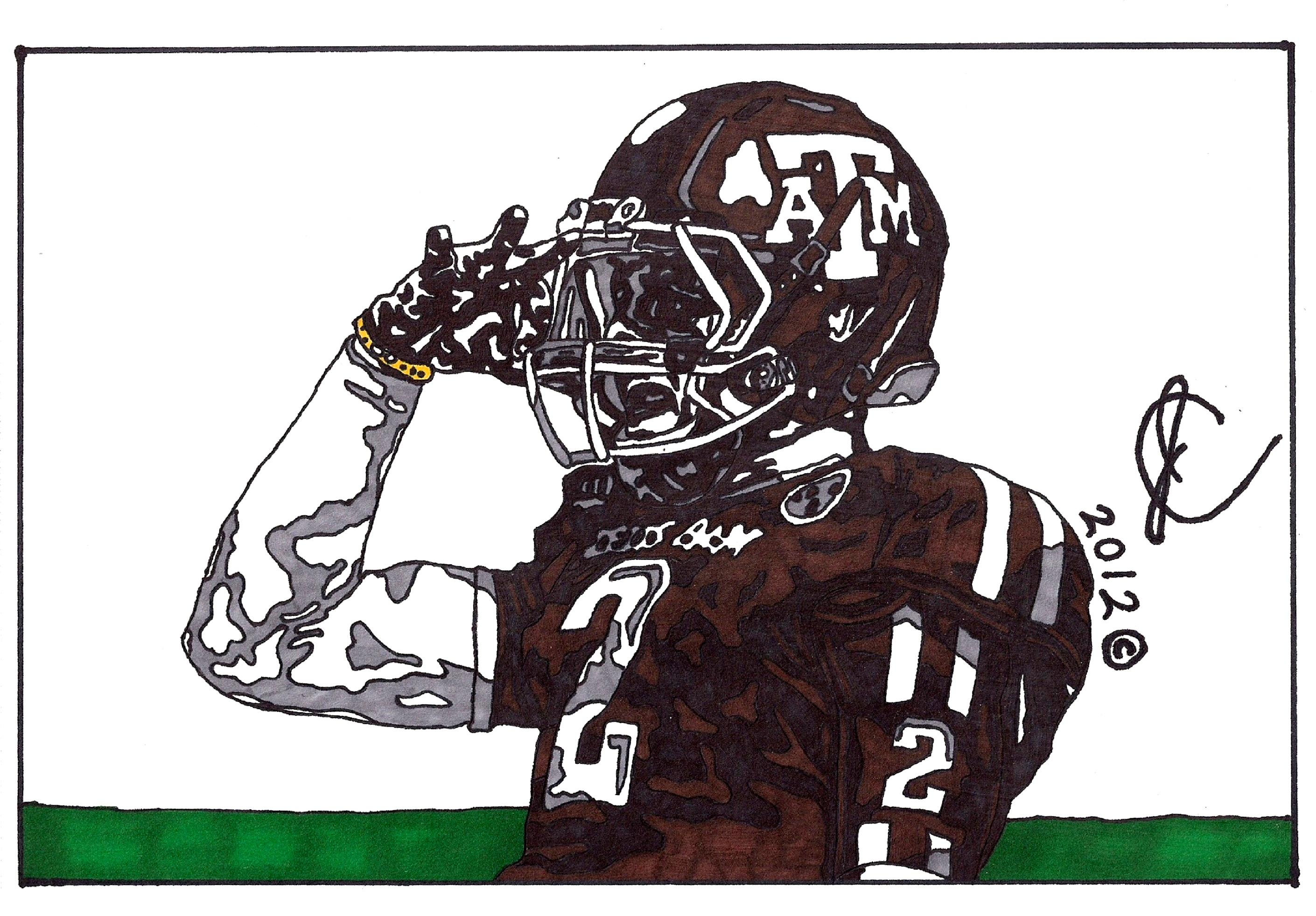 Johnny Manziel Ink Illustration 2 By Jcolley79 On Deviantart