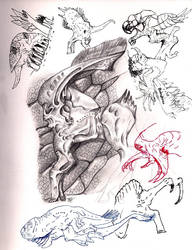 Exobiology sketch dump by elytracephalid