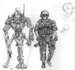 Serak and Human soldier