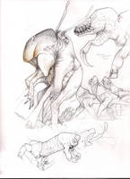 Extraterrestrial sketches by elytracephalid