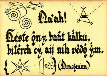 Draconian note by Fabrykanina
