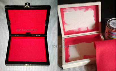 Black royal Tarot box before and after