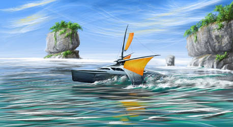 Sail boat concept by aerroscape