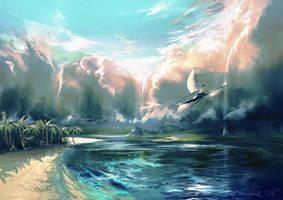 Skyfall (improved color palette version) by aerroscape