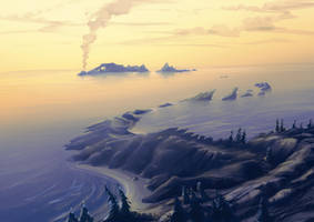 sleeping Baikal by aerroscape