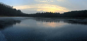 icy sunset panorama