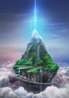 Floating Island by aerroscape