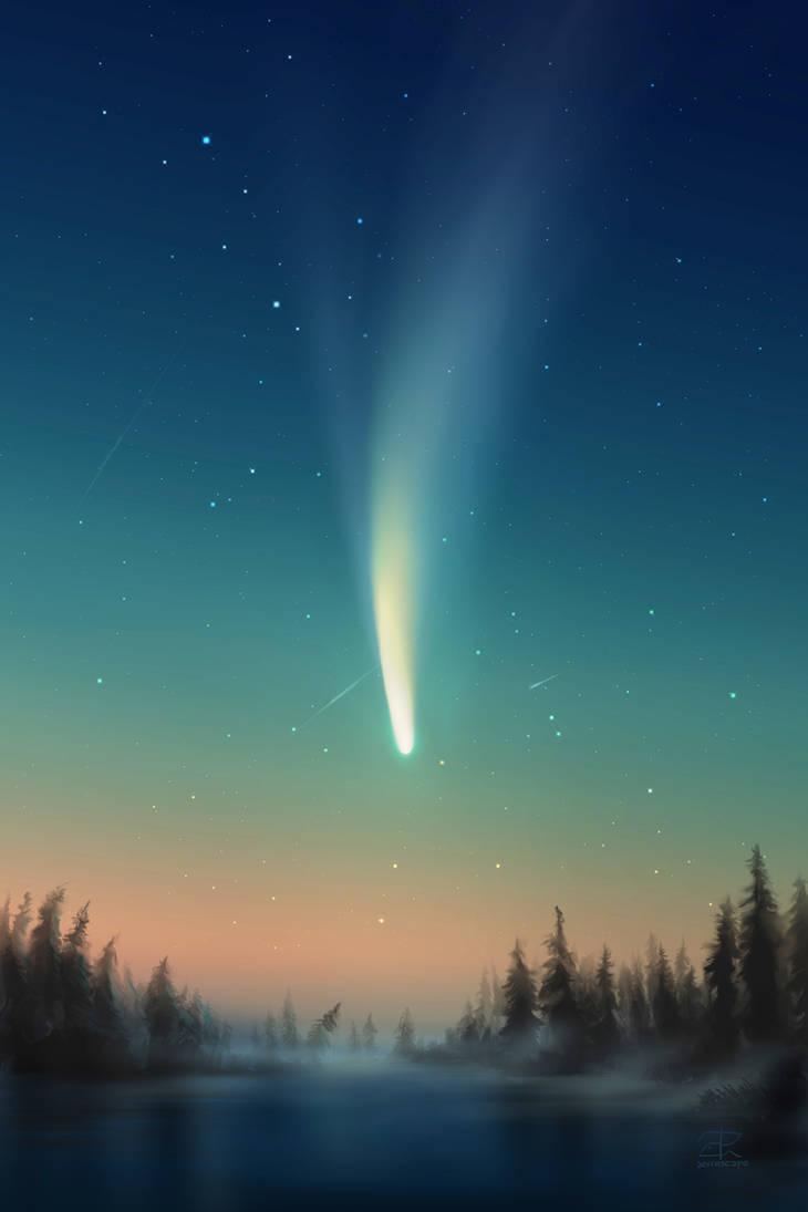Comet Neowise digital painting