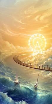 Sky bridge and the wheel of sun
