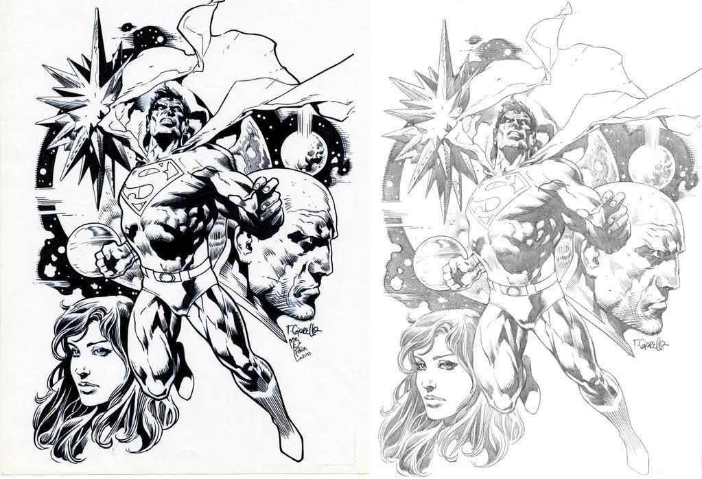 Superman Inking Practice by mspawa