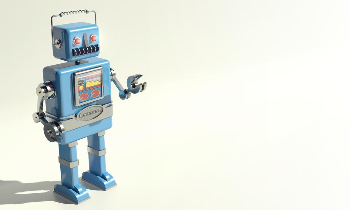 wallpaper retro robot by Avero on DeviantArt