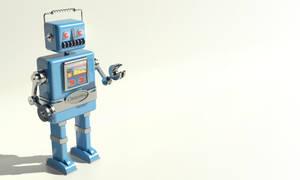 wallpaper retro robot by Avero